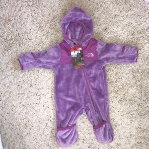 NWT North Face Infant Oso One Piece Fleece Suit